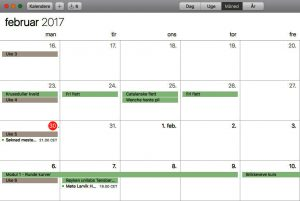 kalender for kurs i kurvfletting